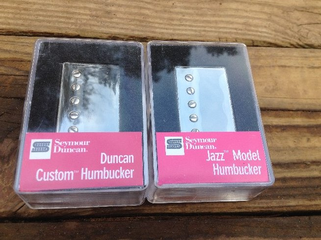 Seymour Duncan SH-5 Custom Bridge & SH-2N Jazz Neck Pickup Set NICKEL Silver