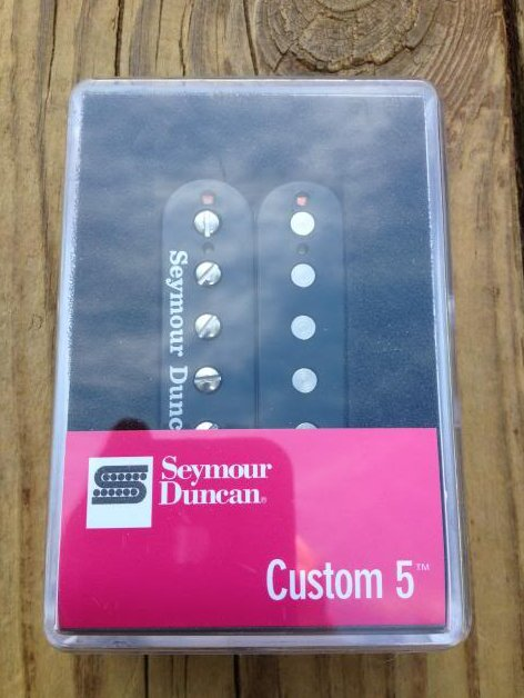 Image 0 of Seymour Duncan SH-14 Custom 5 Black Humbucker Pickup Bridge - Brand New!