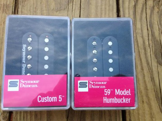 Seymour Duncan SH-14 Custom 5 Bridge & SH-1N 59 4c Neck Humbucker Pickups Black