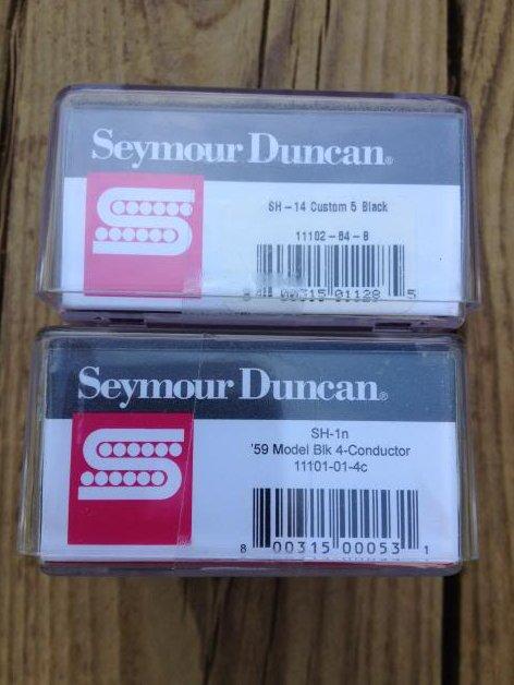 Image 2 of Seymour Duncan SH-14 Custom 5 Bridge & SH-1N 59 4c Neck Humbucker Pickups Black