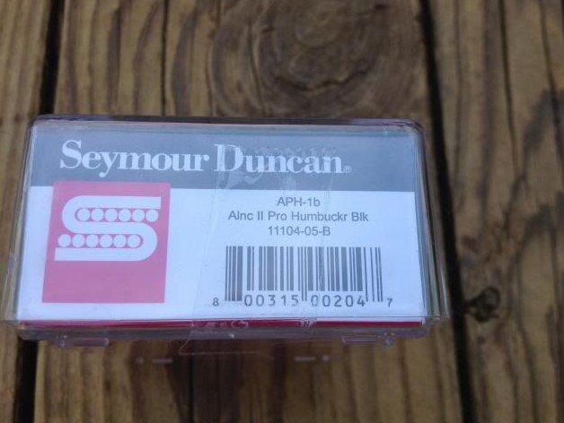 Image 2 of Seymour Duncan APH-1b Alnico II Pro Humbucker Pickup Bridge Black - Brand New!