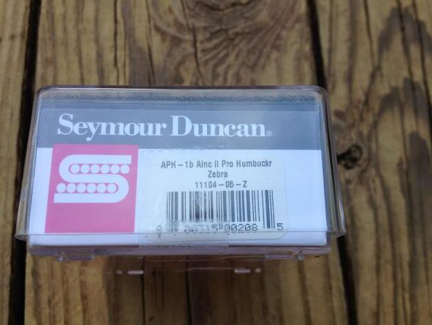 Image 2 of Seymour Duncan APH-1b Alnico II Pro Humbucker Pickup Bridge Zebra - Brand New!