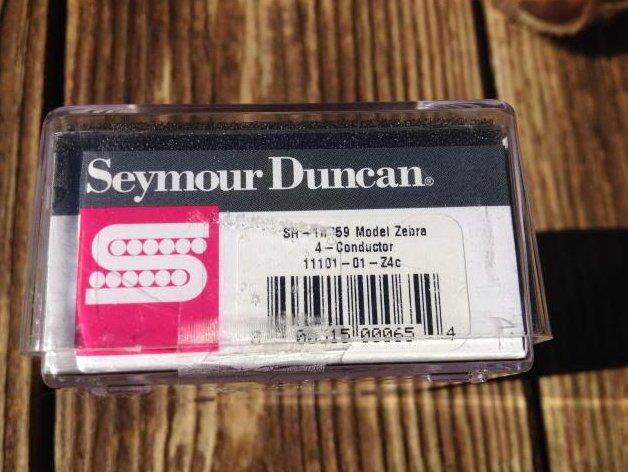 Image 2 of Seymour Duncan SH-1N 59 Model 4 Conductor Neck ZEBRA Humbucker Pickup Les Paul