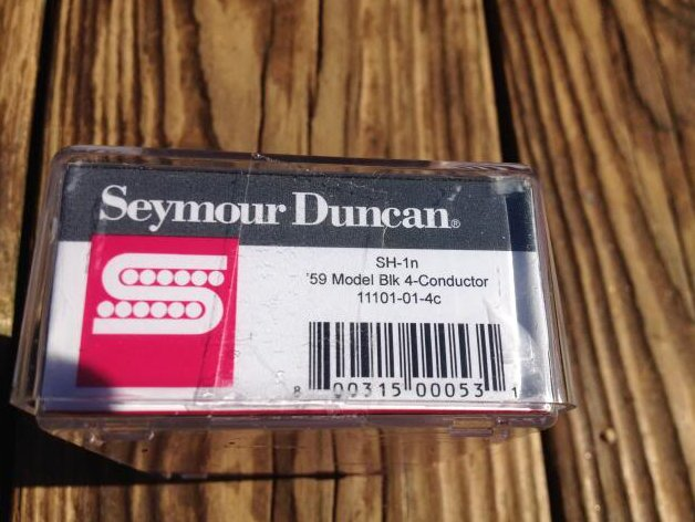 Image 2 of Seymour Duncan SH-1N 59 Model 4 Conductor Neck BLACK PAF Les Paul Pickup