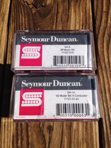 Image 2 of Seymour Duncan SH-4 JB & SH-1N 59 Model BLACK 4 Conductor Humbucker Pickup Set