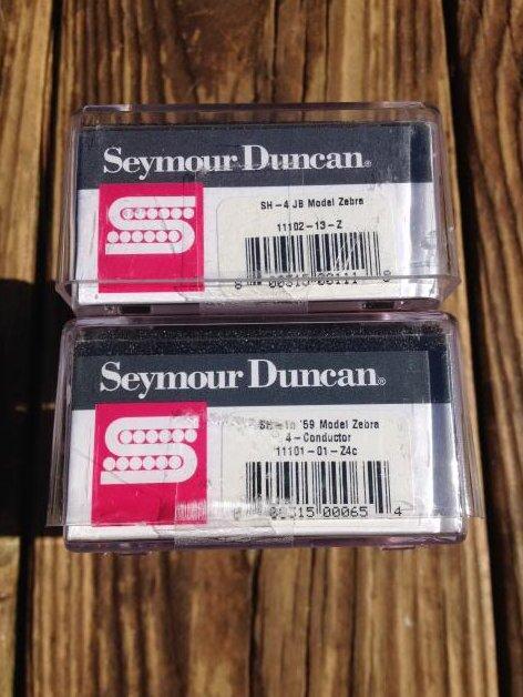 Image 2 of Seymour Duncan SH-4 JB S1110H-1N 59 Model ZEBRA 4 Conductor Humbucker Pickup Set