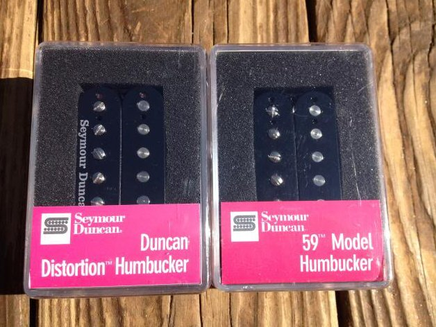 Seymour Duncan Distortion SH-6B & SH-1N 59 Model BLACK 4 Conductor Pickup Set