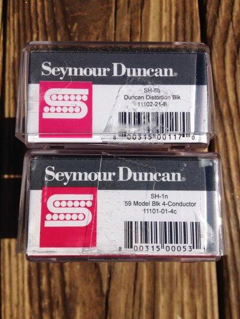 Image 2 of Seymour Duncan Distortion SH-6B & SH-1N 59 Model BLACK 4 Conductor Pickup Set