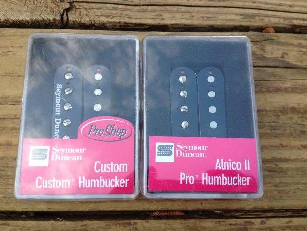 Seymour Duncan SH-11 Custom Custom / APH-1n Alnico II Pro Humbucker Pickup Set