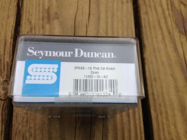 Image 2 of Seymour Duncan SPH-1N Phat Cat Neck Pickup P-90 fit for Humbucker Nickel NEW