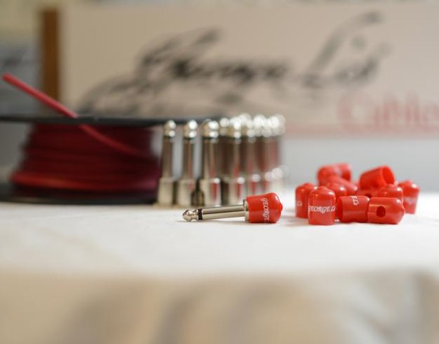 Image 0 of George L's 155 Pedalboard Effects Cable Kit XL .155 Red / Nickel - 20/20/20