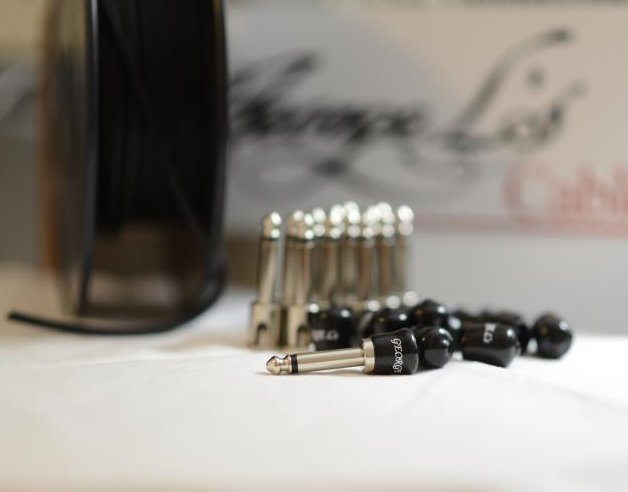 Image 0 of George L's 155 Pedalboard Effects Cable Kit LARGE .155 Black / Nickel 15/14/14