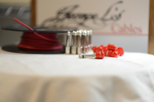 Image 0 of George L's 155 Pedalboard Effects Cable Kit LARGE .155 Red / Nickel 15/14/14