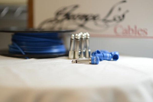 Image 0 of George L's 155 Pedalboard Effects Cable Kit .155 Blue / Nickel - 10/10/10