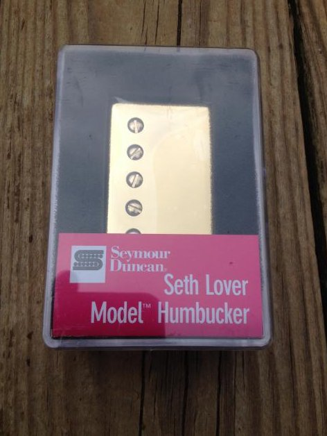 Seymour Duncan SH-55b Seth Lover Humbucker Pickup Bridge GOLD Single Conductor