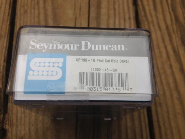Image 2 of Seymour Duncan SPH-1N Phat Cat Neck Pickup P-90 fit for Humbucker GOLD NEW