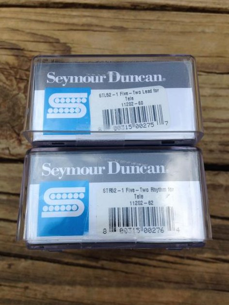 Image 2 of SEYMOUR DUNCAN FIVE-TWO Telecaster Pickup Set - STL52-1 Bridge & STR52-1 Neck