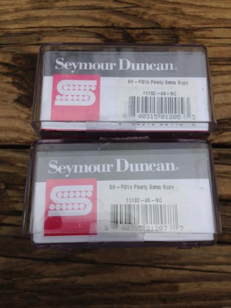 Image 2 of SEYMOUR DUNCAN SH-PG1b&n Pearly Gates Humbucker PICKUP SET Nickel Les Paul