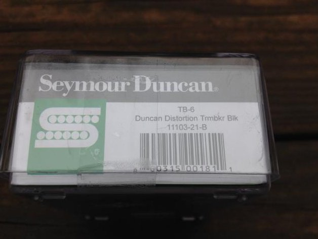 Image 2 of SEYMOUR DUNCAN TB-6 Duncan Distortion Trembucker Pickup Balck Bridge Floyd Rose
