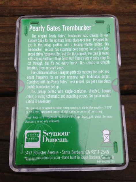 Image 1 of SEYMOUR DUNCAN Pearly Gates TREMBUCKER Pickup TB-PG1b Bridge  REVERSE ZEBRA