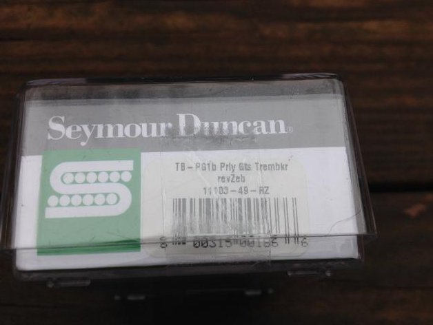 Image 2 of SEYMOUR DUNCAN Pearly Gates TREMBUCKER Pickup TB-PG1b Bridge  REVERSE ZEBRA