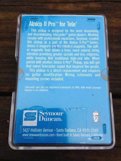 Image 1 of SEYMOUR DUNCAN ALNICO II PRO Telecaster APTL-1 Lead Bridge Pickup Fender Tele