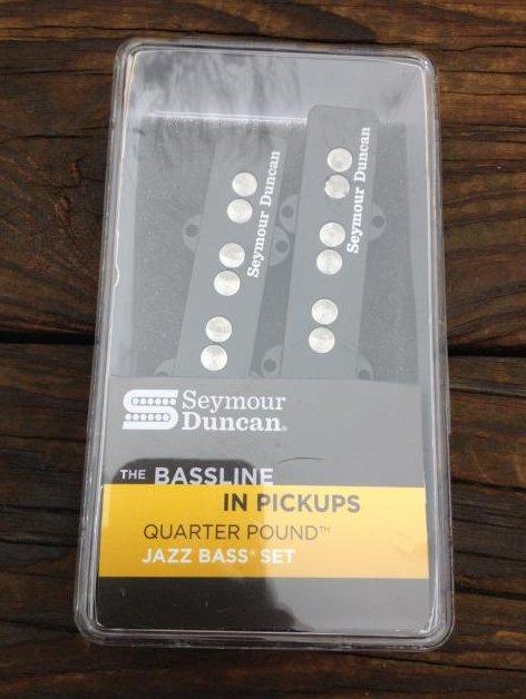 Image 0 of SEYMOUR DUNCAN Quarter Pound SJB-3 Jazz Bass Neck & Bridge Pickup Set Fender