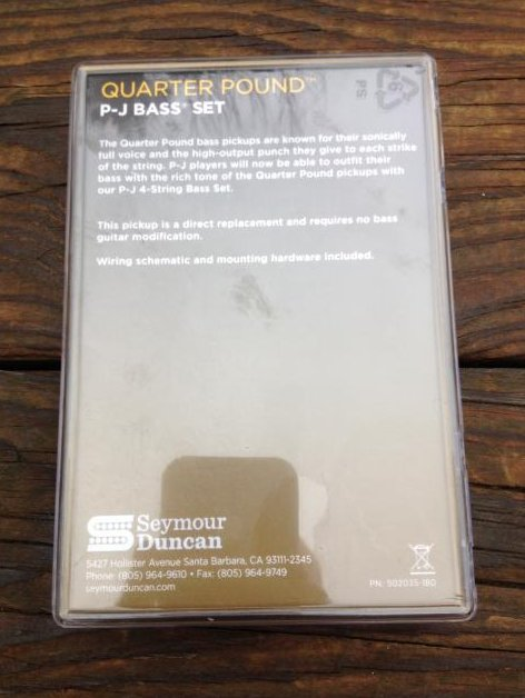 Image 1 of SEYMOUR DUNCAN Quarter Pound P/J Bass Guitar Pickup Set Fender Precision / Jazz