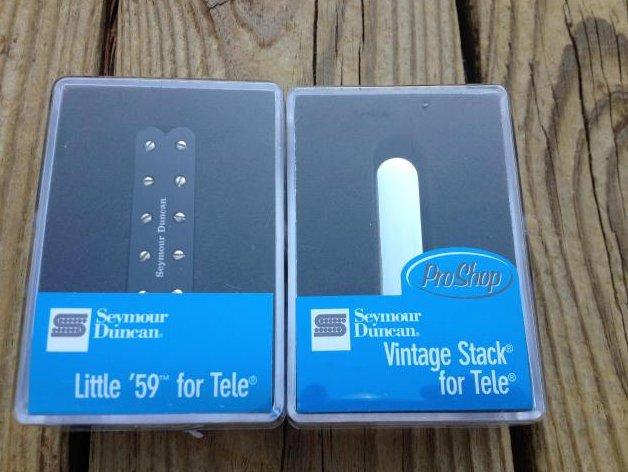 Seymour Duncan ST59-1B Little 59 Telecaster Humbucker / STK-T1N Stack Pickup Set