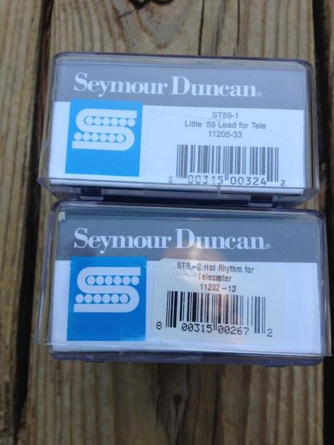 Image 2 of Seymour Duncan ST59-1B Little 59 Bridge Telecaster Humbucker / STR-2 Hot Neck