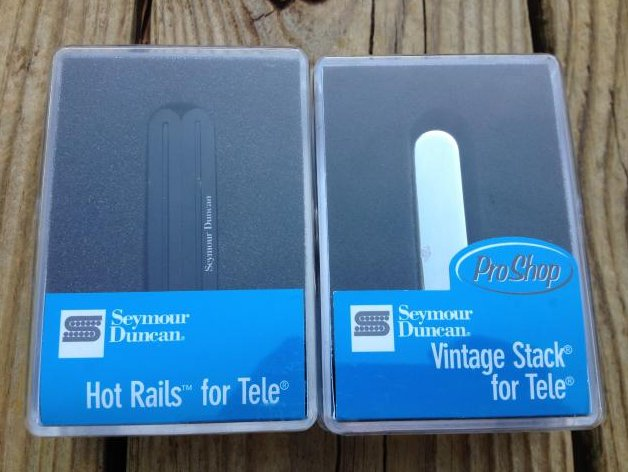 Seymour Duncan STHR-1B Hot Rails Lead Tele / STK-T1n Vintage Stack Pickup Set