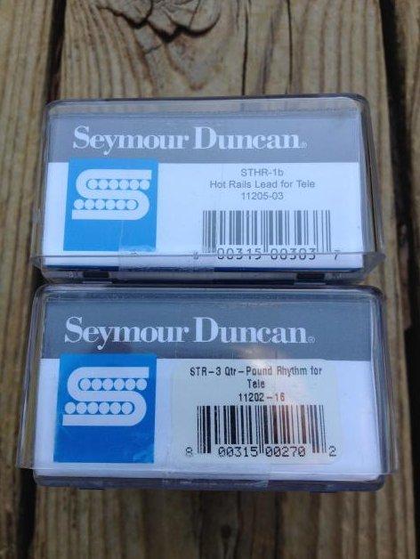 Image 2 of Seymour Duncan STHR-1B Hot Rails Lead Tele / STR-3 Quarter Pound Neck Pickup Set