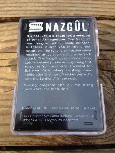 Image 1 of Seymour Duncan Nazgul 6 String Bridge Humbucker TREMBUCKER Pickup BLACk