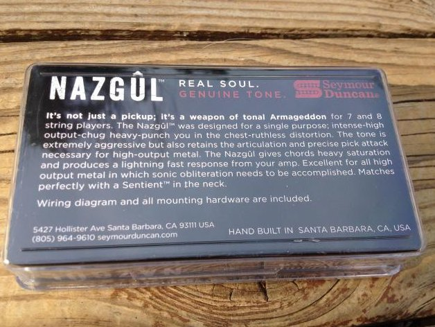 Image 1 of Seymour Duncan Nazgul 7 String Passive Mount Bridge Humbucker Guitar Pickup NEW
