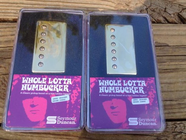 Seymour Duncan SH-18 Whole Lotta Bucker Humbucker Pickup SET GOLD Jimmy Page