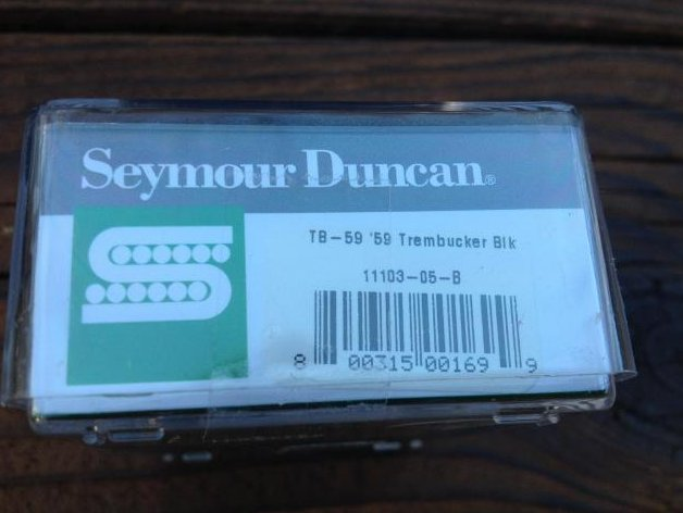 Image 2 of Seymour Duncan TB-59 Bridge Trembucker BLACK Humbucker Guitar Pickup 59 Model