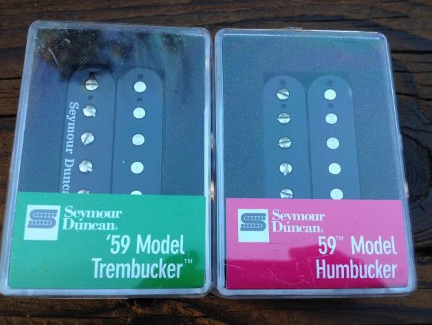 Seymour Duncan TB-59 Trembucker & SH-1n 59 Model Neck Humbucker Pickup Set BLACK