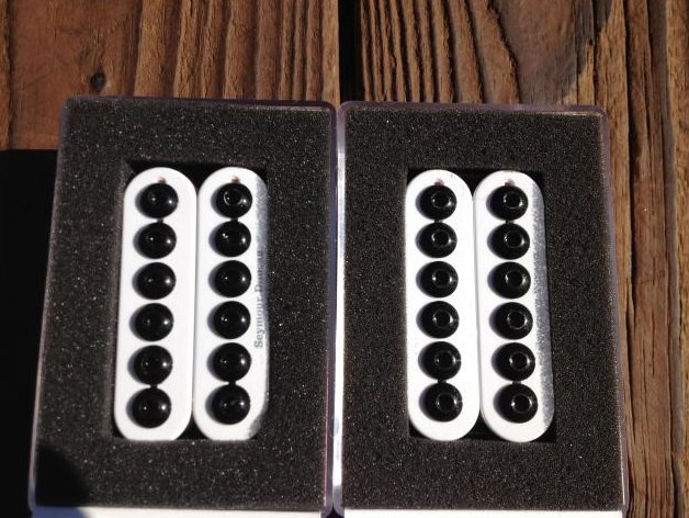 Image 0 of Seymour Duncan SH-8 Invader Humbucker Pickup SET White Ceramic Neck & Bridge