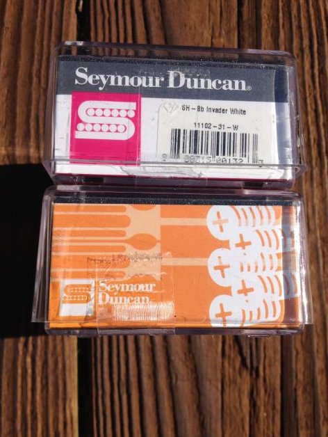 Image 2 of Seymour Duncan SH-8 Invader Humbucker Pickup SET White Ceramic Neck & Bridge