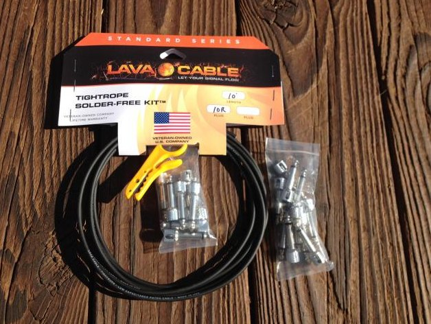 Image 0 of LAVA Solder-Free LARGE Pedalboard Kit - 10ft Cable, 20 Right Angle Plugs BLACK