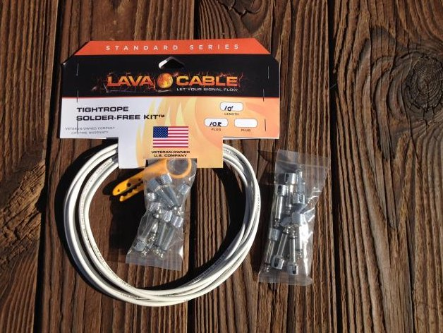 Image 0 of LAVA Solder-Free LARGE Pedalboard Kit - 10ft Cable, 20 Right Angle Plugs WHITE