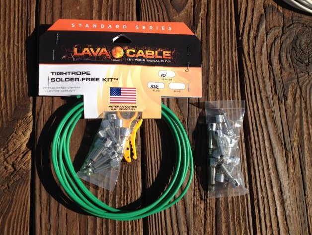 Image 0 of LAVA Solder-Free LARGE Pedalboard Kit - 10ft Cable, 20 Right Angle Plugs GREEN