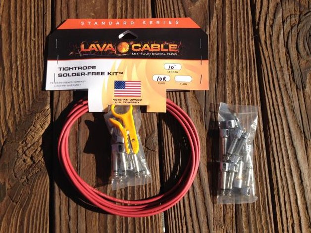 Image 0 of LAVA Solder-Free LARGE Pedalboard Kit - 10ft Cable, 20 Right Angle Plugs RED