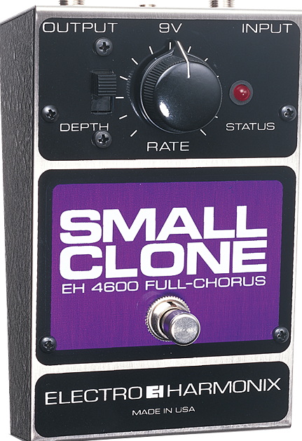 Image 0 of Electro Harmonix Small Clone Classic Analog Chorus Guitar Pedal w/ 9V Battery