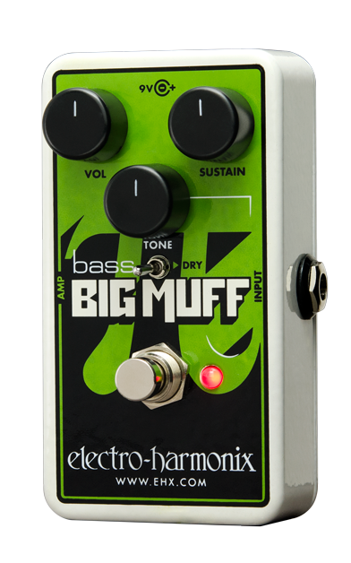 Electro Harmonix Nano Bass Big Muff Distortion Sustainer with 9 volt Battery