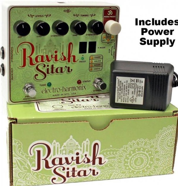 Image 0 of Electro Harmonix Ravish Sitar Simulator Guitar Effects Pedal w/ 9 volt Battery