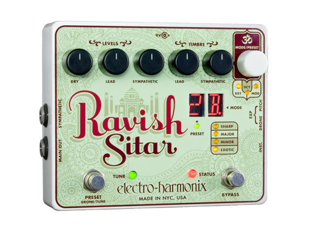 Image 1 of Electro Harmonix Ravish Sitar Simulator Guitar Effects Pedal w/ 9 volt Battery