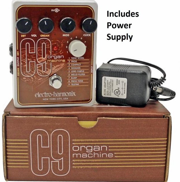 Image 0 of Electro Harmonix C9 Organ Machine Effect Pedal with Power Supply Auth. Dealer