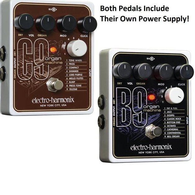 electro harmonix b9 and c9 organ machine pedals with power supplies auth dealer. Black Bedroom Furniture Sets. Home Design Ideas