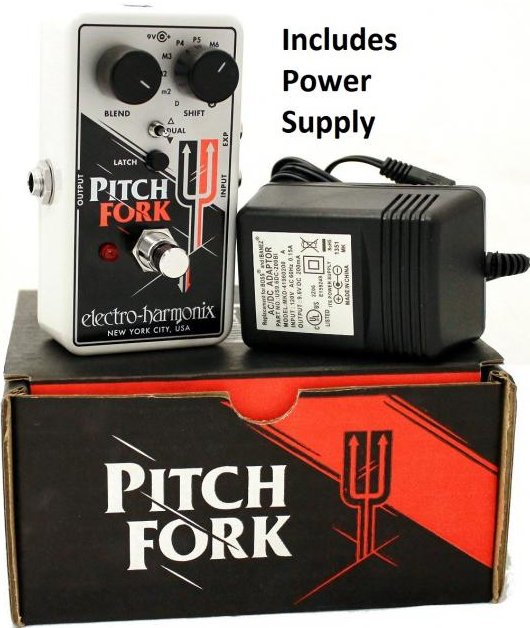 Electro Harmonix Pitch Fork Polyphonic Pitch Shifter Pedal with Power Supply